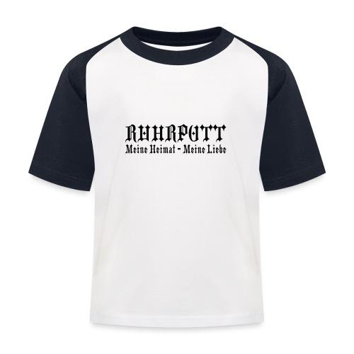 Ruhrpott - Meine Heimat, meine Liebe - T-Shirt klassisch - Kinder Baseball T-Shirt