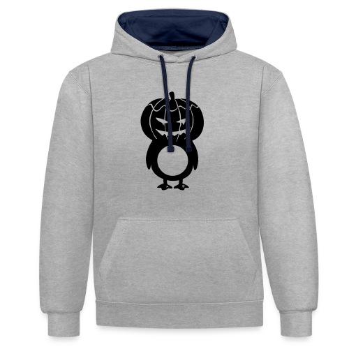 Pingouin Citrouille - Sweat-shirt contraste