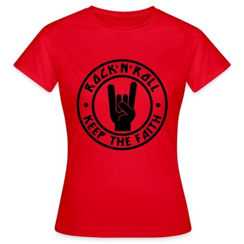 RnR Keep The Faith Red Hoodie - Women's T-Shirt