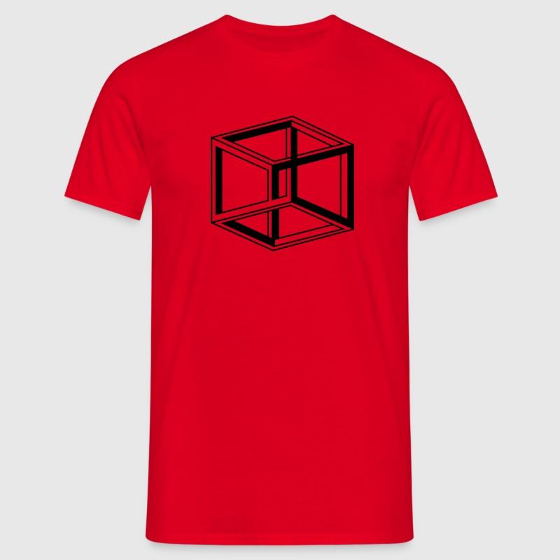 kubus cube escher  T-Shirts - Männer T-Shirt