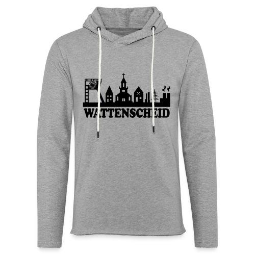 Wattenscheider Skyline (schmal) - Kapuzenpulli - Leichtes Kapuzensweatshirt Unisex