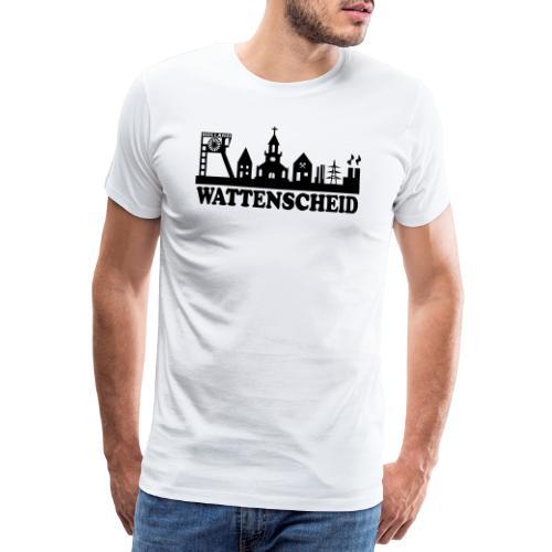 Wattenscheider Skyline (schmal) - Kapuzenpulli - Männer Premium T-Shirt