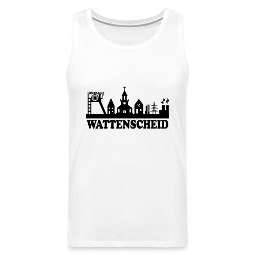 Wattenscheider Skyline (schmal) - Kapuzenpulli - Männer Premium Tank Top