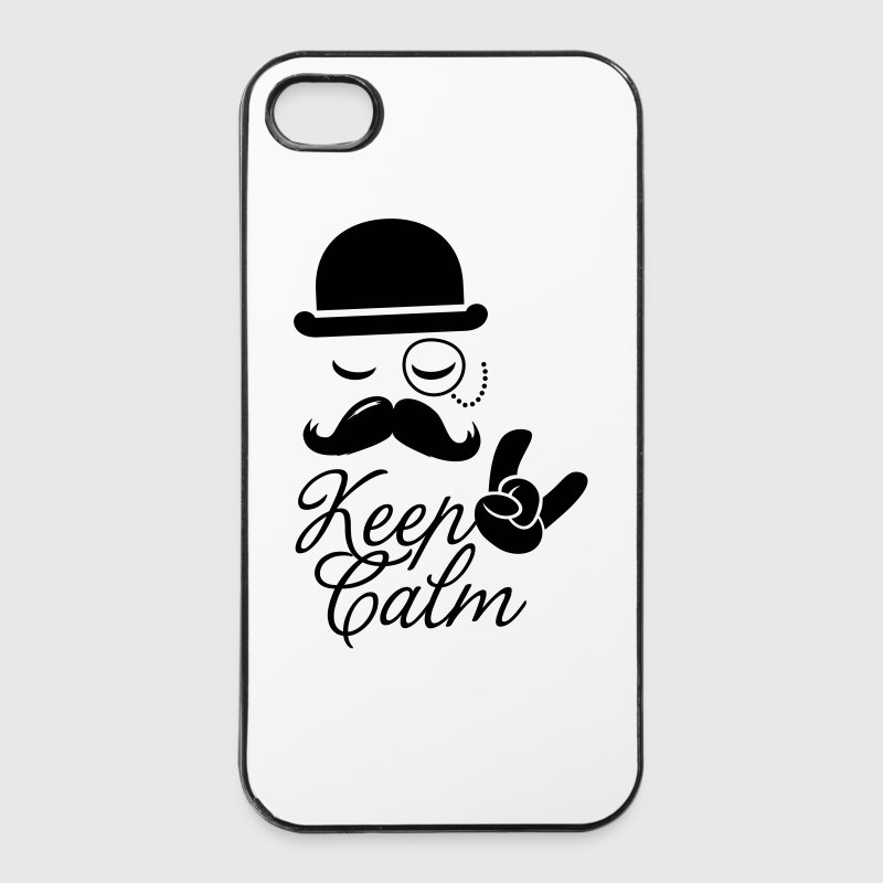 Funny keep calm like a moustache boss t-shirts Other - iPhone 4/4s Hard Case
