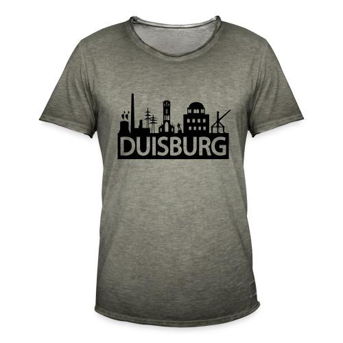 Skyline Dusiburg - Frauen Kapuzenpullover - Männer Vintage T-Shirt