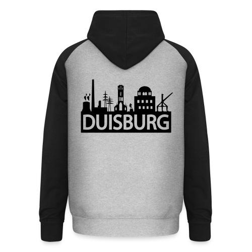 Skyline Dusiburg - Frauen Kapuzenpullover - Unisex Baseball Hoodie