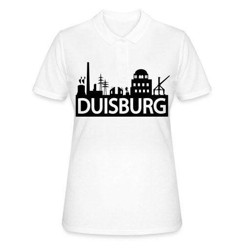 Skyline Dusiburg - Frauen Kapuzenpullover - Frauen Polo Shirt