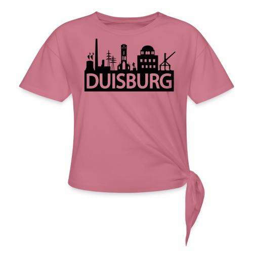 Skyline Dusiburg - Frauen Kapuzenpullover - Knotenshirt