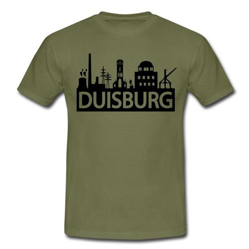 Skyline Dusiburg - Frauen Kapuzenpullover - Männer T-Shirt