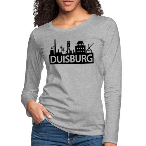 Skyline Dusiburg - Frauen Kapuzenpullover - Frauen Premium Langarmshirt