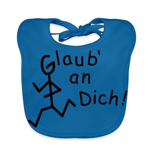 Strichmännchen - Glaub' an Dich  - Baby Bio-Lätzchen