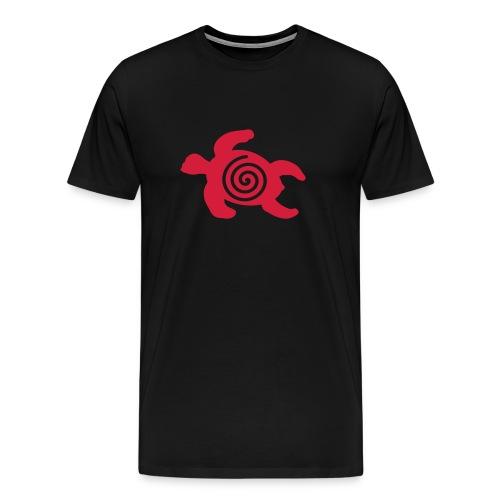 Schildkröte mit Schneckenspirale  - Männer Premium T-Shirt