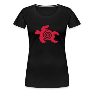 Schildkröte mit Schneckenspirale  - Frauen Premium T-Shirt