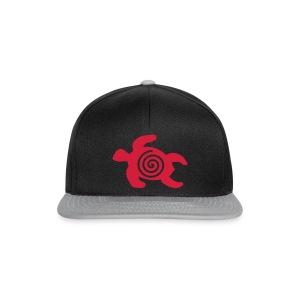 Schildkröte mit Schneckenspirale  - Snapback Cap