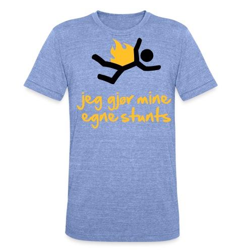 Jeg gjør mine egne stunts - Unisex tri-blend T-skjorte fra Bella + Canvas