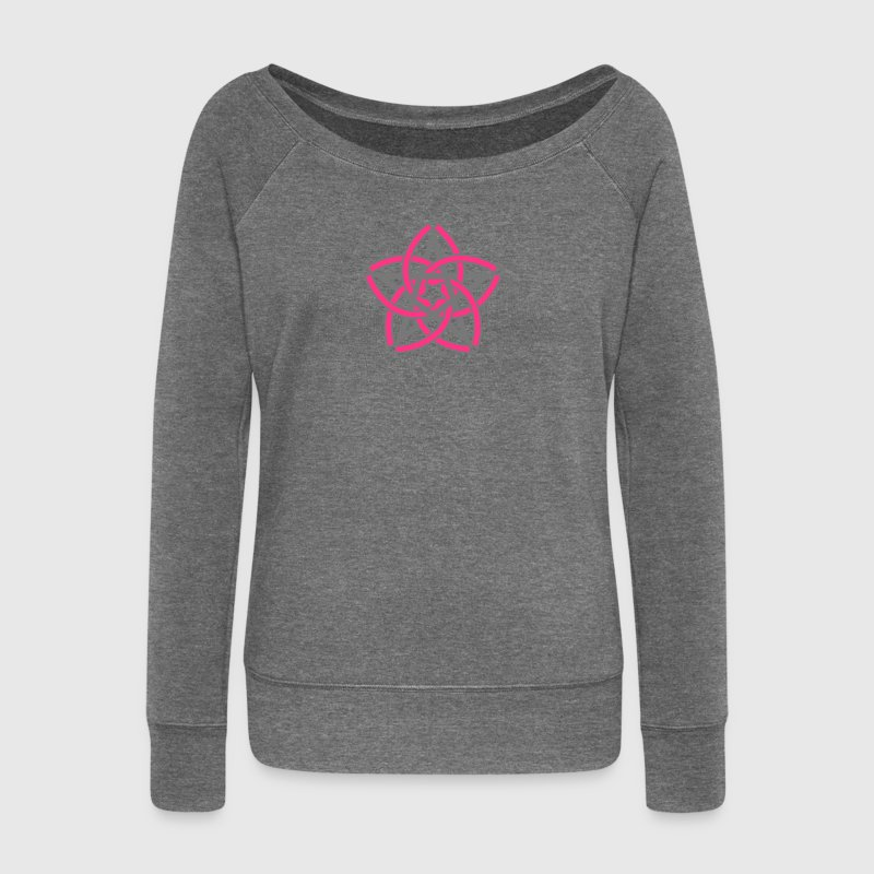 Pentagram & Venus Flower - Protection & Balance / Hoodies & Sweatshirts - Women's Boat Neck Long Sleeve Top