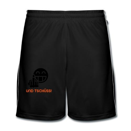 Und Tschüss! BlackShirt - Männer Fußball-Shorts