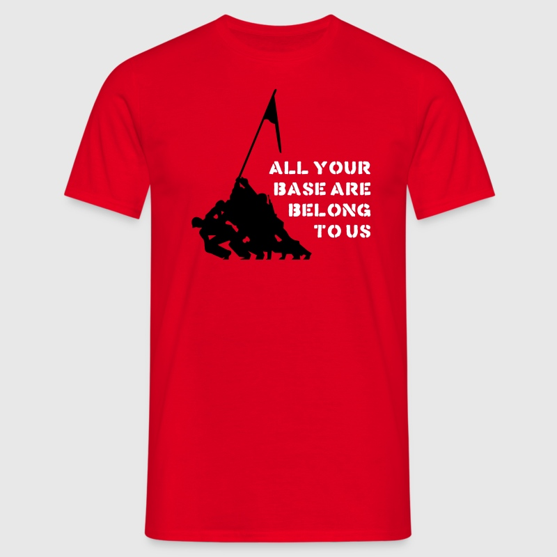 all your base are belong to us T-Shirts - Männer T-Shirt