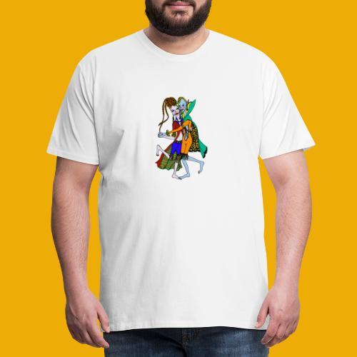 beer met een elfen - Mannen Premium T-shirt
