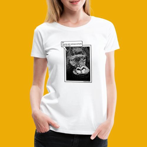 beer met een gorilla - Vrouwen Premium T-shirt