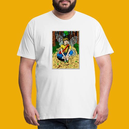 beer met een boself - Mannen Premium T-shirt