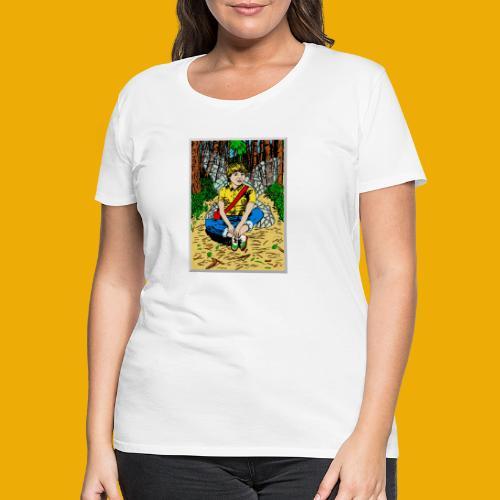 beer met een boself - Vrouwen Premium T-shirt