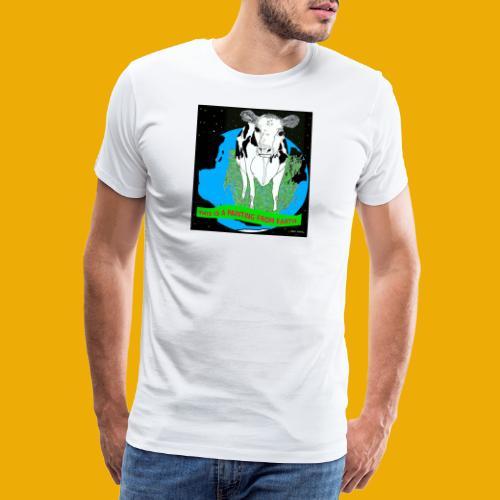 beer met een koe T-shirt - Mannen Premium T-shirt