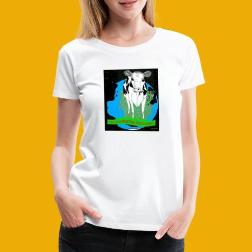 beer met een koe T-shirt - Vrouwen Premium T-shirt
