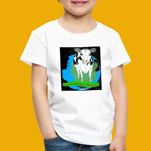 beer met een koe T-shirt - Kinderen Premium T-shirt