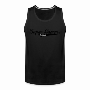 Super Gamer (White) - Men's Premium Tank Top