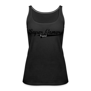 Super Gamer (White) - Women's Premium Tank Top