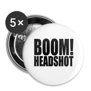 Head Shot - Buttons small 25 mm