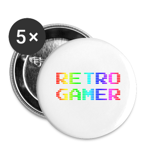 Retro Gamer - Buttons small 25 mm