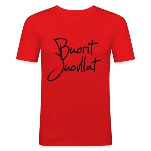 Buorit juovllat - Slim Fit T-skjorte for menn