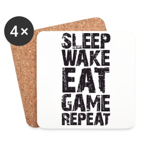 Sleep Wake Eat... - Coasters (set of 4)