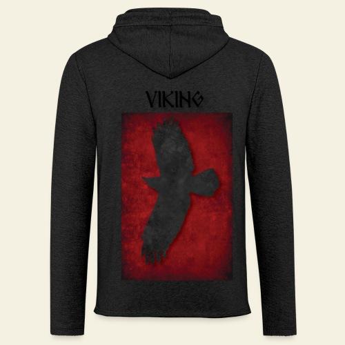 Ravnefanen Viking - Let sweatshirt med hætte, unisex