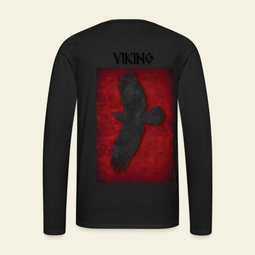 Ravnefanen Viking - Herre premium T-shirt med lange ærmer