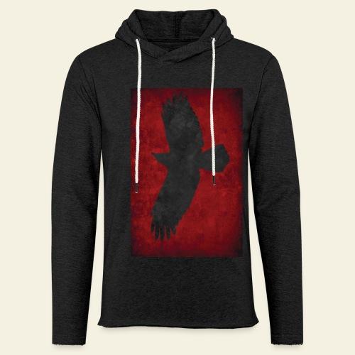 Ravnefanen - Let sweatshirt med hætte, unisex