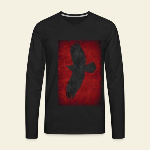 Ravnefanen - Loose fit - Herre premium T-shirt med lange ærmer