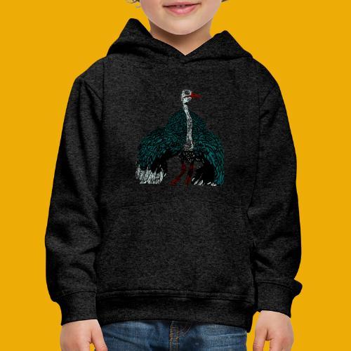 beer met struisvogel - Kinderen trui Premium met capuchon