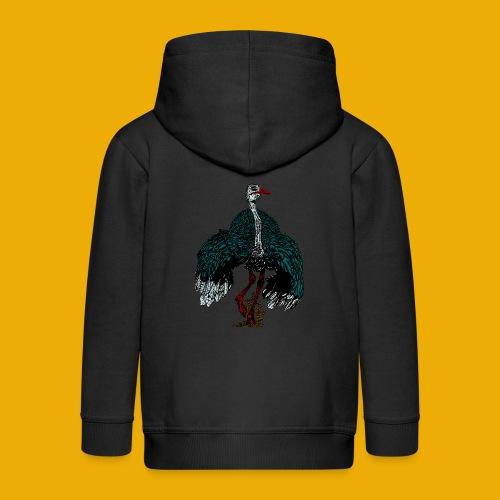 beer met struisvogel - Kinderen Premium jas met capuchon
