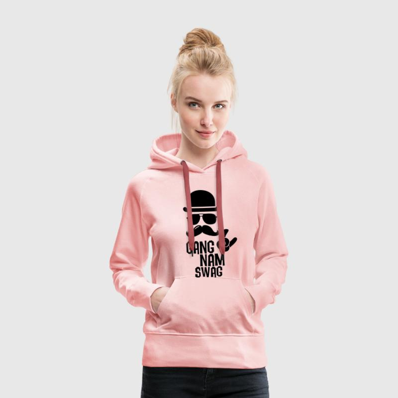 Like a Gangnam swag style moustache boss t-shirts Sweat-shirts - Sweat-shirt à capuche Premium pour femmes