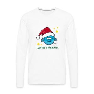 Kugelige Weihnachten - Männer Premium Langarmshirt