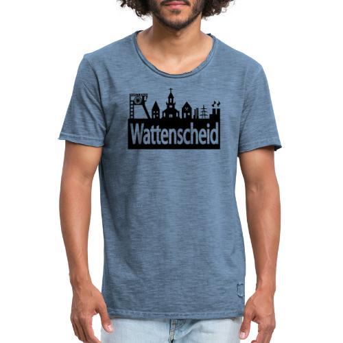 Skyline Wattenscheid - Frauen Kapuzenpulli - Männer Vintage T-Shirt