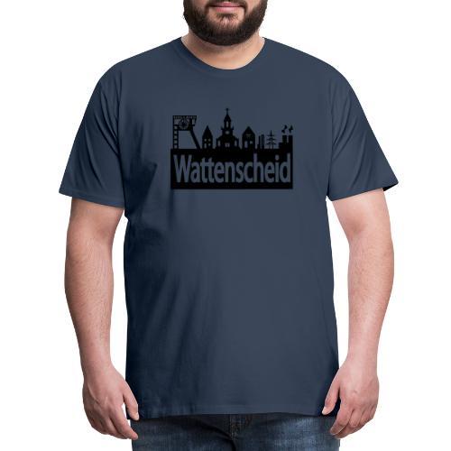 Skyline Wattenscheid - Frauen Kapuzenpulli - Männer Premium T-Shirt