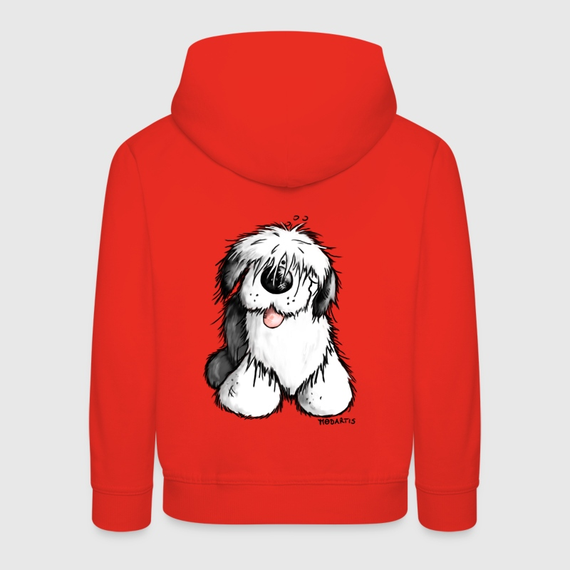 Bobbie Bobtail - Old English Sheepdog - Cartoon Hoodies - Kids' Premium Hoodie