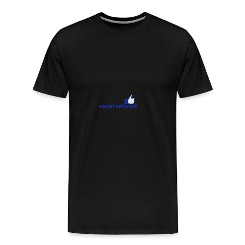 social network mit button | Rucksack - Männer Premium T-Shirt
