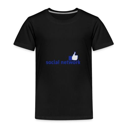 social network mit button | Rucksack - Kinder Premium T-Shirt