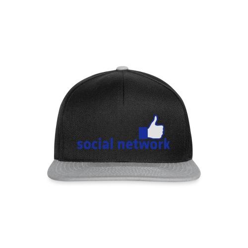 social network mit button | Rucksack - Snapback Cap