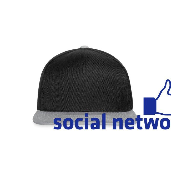 social network mit button | Rucksack